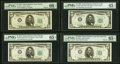 Small Size:Federal Reserve Notes, $5 1950 Wide II Federal Reserve Notes PMG Graded.. Fr. 1961-F Gem Uncirculated 66 EPQ;. Fr. 1961-G Gem Uncirculated 65... (Total: 4 notes)