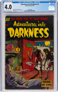 Golden Age (1938-1955):Horror, Adventures Into Darkness #8 (Standard, 1953) CGC VG 4.0 Off-white to white pages....