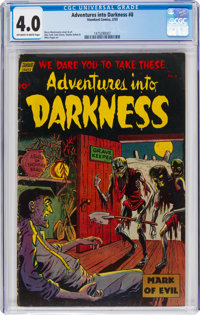 Adventures Into Darkness #8 (Standard, 1953) CGC VG 4.0 Off-white to white pages