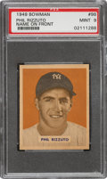 Baseball Cards:Singles (1940-1949), 1949 Bowman Phil Rizzuto (Name On Front) #98 PSA Mint 9 - Pop Five, None Higher. ...