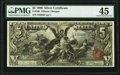 Large Size:Silver Certificates, Fr. 268 $5 1896 Silver Certificate PMG Choice Extremely Fine 45.. ...