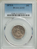 Twenty Cent Pieces: , 1875-S 20C AU53 PCGS. PCGS Population: (206/2433). NGC Census: (116/2037). CDN: $260 Whsle. Bid for NGC/PCGS AU53. Mintage ...