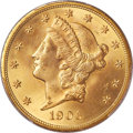 Liberty Double Eagles, 1906-D $20 MS65 PCGS. CAC....