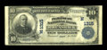 National Bank Notes:Maine, Brunswick, ME - $10 1902 Plain Back Fr. 624 The Pejepscot NB Ch. #(N)1315. ...