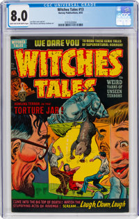 Witches Tales #13 (Harvey, 1952) CGC VF 8.0 Light tan to off-white pages