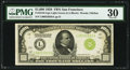 Fr. 2210-L $1,000 1928 Light Green Seal Federal Reserve Note. PMG Very Fine 30