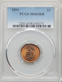 1899 1C MS65 Red and Brown PCGS. PCGS Population: (179/13). NGC Census: (207/36). CDN: $150 Whsle. Bid for NGC/PCGS MS65...