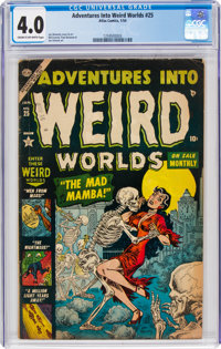 Adventures Into Weird Worlds #25 (Atlas, 1954) CGC VG 4.0 Cream to off-white pages