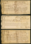 Confederate Notes:Group Lots, Greenville, TN Interim Depository Receipts Various Amounts 1864 Tremmel TN-16 Three Examples Fine or Better.. ... (Total: 3 items)