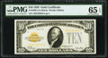 Small Size:Gold Certificates, Fr. 2400 $10 1928 Gold Certificate. PMG Gem Uncirculated 65 EPQ.. ...