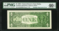 Multiple Back Impression Error Fr. 1922-K $1 1995 Federal Reserve Note. PMG Extremely Fine 40 EPQ