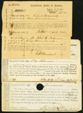 Confederate Notes:Group Lots, North Carolina Interim Depository Receipts Various Amounts 1863-64 Very Good- Fine or Better.. Raleigh Tremmel NC-114; NC-... (Total: 4 items)
