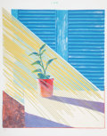 Prints & Multiples, David Hockney (b. 1937). Sun, 1973. Lithograph and screenprint in colors on Arjomari paper. 37-1/4 x...