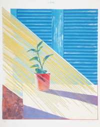 David Hockney (b. 1937) Sun, 1973 Lithograph and screenprint in colors on Arjomari paper 37-1/4 x