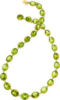Estate Jewelry:Necklaces, Peridot, Gold Necklace . ...