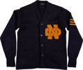 Football Collectibles:Uniforms, Early 1940's Angelo Bertelli Notre Dame Fighting Irish Letterman's Sweater....