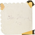 Football Collectibles:Others, 1953 Jim Thorpe Signed Napkin. ...