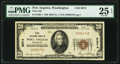 National Bank Notes:Washington, Port Angeles, WA - $20 1929 Ty. 1 First National Bank Ch. # 6074 PMG Very Fine 25 EPQ.. ...