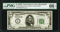 Small Size:Federal Reserve Notes, Fr. 1952-I $5 1928B Federal Reserve Note. PMG Gem Uncirculated 66 EPQ.. ...
