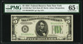 Small Size:Federal Reserve Notes, Fr. 1956-B* $5 1934 Mule Federal Reserve Note. PMG Gem Uncirculated 65 EPQ.. ...