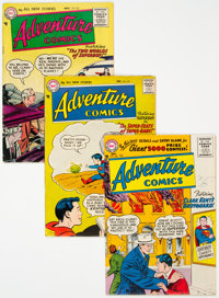 Adventure Comics #218, 228, and 231 Group (DC, 1955-56).... (Total: 3 Comic Books)