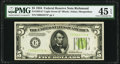 Fr. 1955-E* $5 1934 Light Green Seal Federal Reserve Note. PMG Choice Extremely Fine 45 EPQ