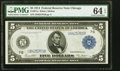 Fr. 871a $5 1914 Federal Reserve Note PMG Choice Uncirculated 64 EPQ