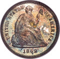 Proof Seated Half Dimes, 1862 H10C PR67 PCGS. CAC....