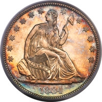 1884 50C Repunched Date, WB-102, MS65 PCGS. CAC....(PCGS# 572269)