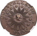 Colonials, 1783 COPPER Nova Constellatio Copper, Pointed Rays, Small US, MS62 Brown NGC. Crosby 2-B, W-1865, R.2....