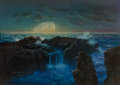 Works on Paper, Don Dixon (American, b. 1951). Moonrise, 1979. Oil on board. 14-1/4 x 20-1/8 inches (36.2 x 51.1 cm) (sight). Signed and...