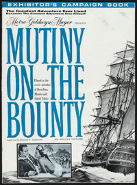 """Mutiny on the Bounty (MGM, 1962). Folded, Fine+. Cut Pressbook (20 Pages, 14"""" X 19""""). Reynold Brown Artwork. A..."""