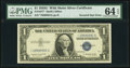Inverted Star Fr. 1617* $1 1935G With Motto Silver Certificate. PMG Choice Uncirculated 64 EPQ