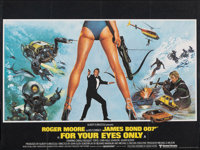 "For Your Eyes Only (United Artists, 1981). Folded, Very Fine-. British Quad (30"" X 40""). Brian Bysouth Artwork..."