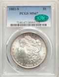 1882-S $1 MS67 PCGS. CAC. PCGS Population: (1085/75). NGC Census: (1763/125). CDN: $485 Whsle. Bid for NGC/PCGS MS67. Mi...