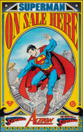 """Movie Posters:Miscellaneous, Superman (DC Comics, 1989). Folded, Very Fine+. Newsstand Poster (22"""" X 35""""). George Perez and Steve Oliff Artwork. Action...."""