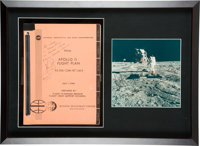 """Apollo 11: NASA """"Final Apollo 11 Flight Plan AS-506 / CSM-107 / LM-5"""" July 1, 1969-dated Book Signed by"""