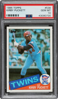 Baseball Cards:Singles (1970-Now), 1985 Topps Kirby Puckett #536 PSA Gem Mint 10....
