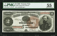 Fr. 353 $2 1890 Treasury Note PMG About Uncirculated 55