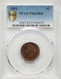 1893 1C PR65 Red and Brown PCGS. PCGS Population: (40/9). NGC Census: (43/8). CDN: $440 Whsle. Bid for NGC/PCGS PR65. Mi...