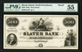 Obsoletes By State:Rhode Island, North Providence, RI- Slater Bank $500 18__ as G14 as Durand 871 Proof PMG About Uncirculated 55.. ...