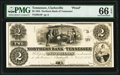 Clarksville, TN- Northern Bank of Tennessee $2 Nov. 1, 1855 G4 as Garland 173 Proof PMG Gem Uncirculated 66 EPQ