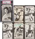 Baseball Collectibles:Others, 1973-80 TCMA All-Time Greats Signed Postcards Lot of 26....