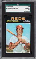 Baseball Cards:Singles (1970-Now), 1971 Topps Johnny Bench #250 SGC 92 NM/MT+ 8.5 - Pop Three, None Higher. ...