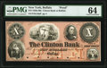 Buffalo, NY- Clinton Bank of Buffalo $10 18__ as G10a Proof PMG Choice Uncirculated 64