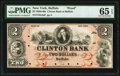 Buffalo, NY- Clinton Bank of Buffalo $2 18__ G4a Proof PMG Gem Uncirculated 65 EPQ