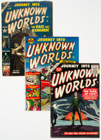 Journey Into Unknown Worlds #6, 20, and 43 Group (Atlas, 1951-56).... (Total: 3 Items)