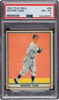 Baseball Cards:Singles (1940-1949), 1941 Play Ball George Case #69 PSA NM-MT 8 - Only One Higher. ...