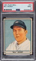 Baseball Cards:Singles (1940-1949), 1941 Play Ball Bill Dickey #70 PSA Mint 9 - Pop Four, None Higher. ...