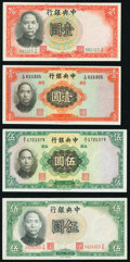 Eight Central Bank of China Notes from the 1930s. Very Good or Better. ... (Total: 8 notes)